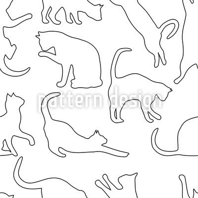 Spielende Katzen Nahtloses Vektormuster
