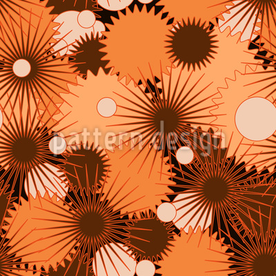 Uhrwerk Sterne Nahtloses Vektor Muster
