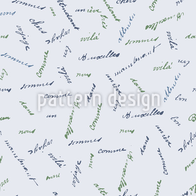 French Words Seamless Pattern