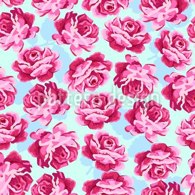 Liebliche Rose Nahtloses Vektormuster