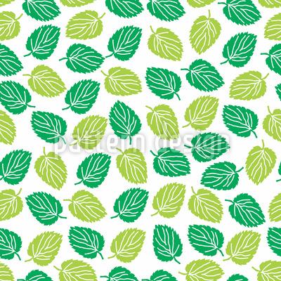 Blätter Der Ulme Nahtloses Vektormuster