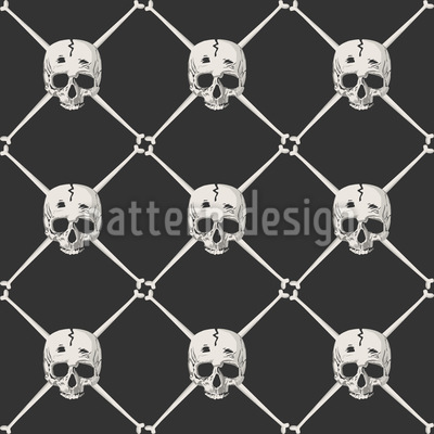In The Pirates Net Seamless Vector Pattern Design