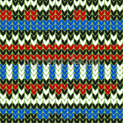 Striped Knitting Seamless Vector Pattern Design