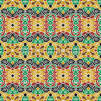 Stammes Verbindungen Rapportiertes Design