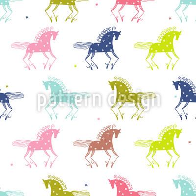 Wilde Pferde Vektor Ornament