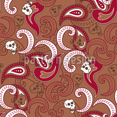 Rocking Orient Brown Seamless Vector Pattern Design