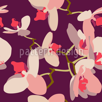 Orchids Repeating Pattern