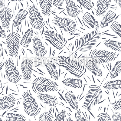 Fern Thicket Vector Pattern