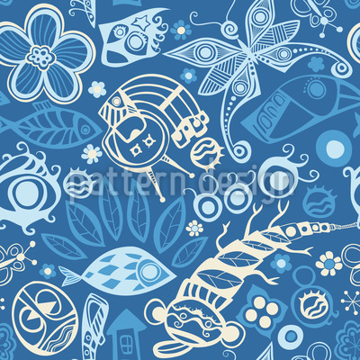 Ocean Of Dreams Seamless Vector Pattern Design