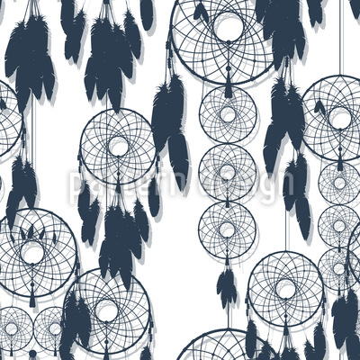 Dreamcatcher Seamless Vector Pattern Design