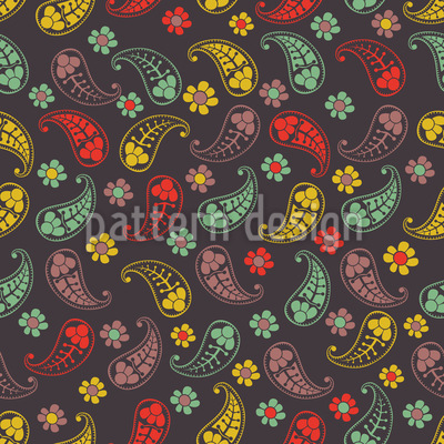 ペイズリーミックスの秋 シームレスなベクトルパターン設計