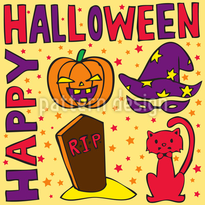 Halloween Greetings Design Pattern