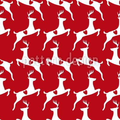 Liebe Hirsche Nahtloses Vektor Muster