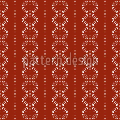 Leaf Stripes Seamless Vector Pattern Design