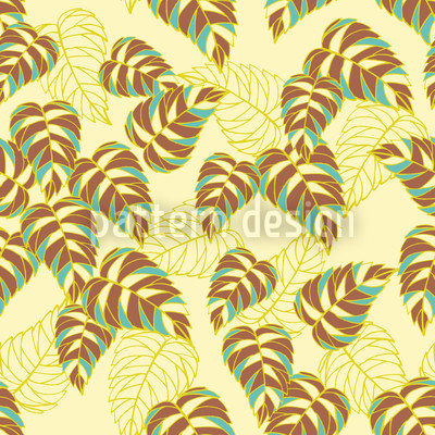 Birch Leaf Yellow Seamless Vector Pattern