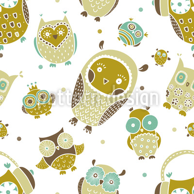 Owls Show Seamless Pattern