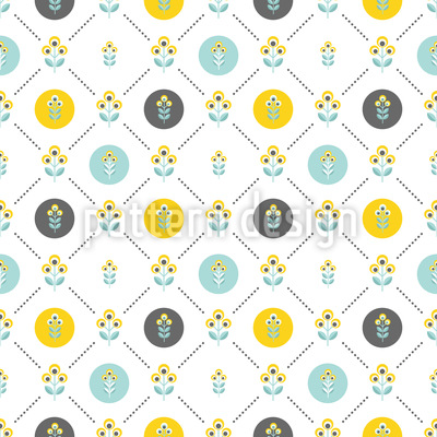 Scandinavian Flowers Seamless Vector Pattern