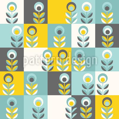 Blumen Patchwork Vektor Muster