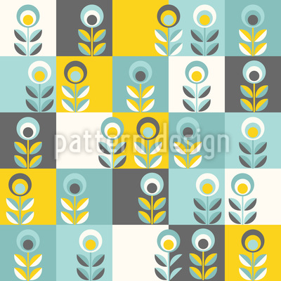 Flower Patchwork Vector Pattern