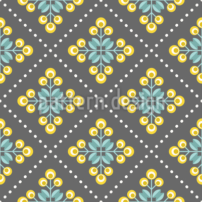Flores Retro Patchwork Estampado Vectorial Sin Costura