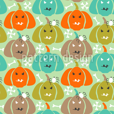 Scary Pumpkins Vector Pattern