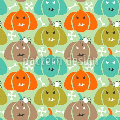Scary Pumpkins Seamless Vector Pattern Design