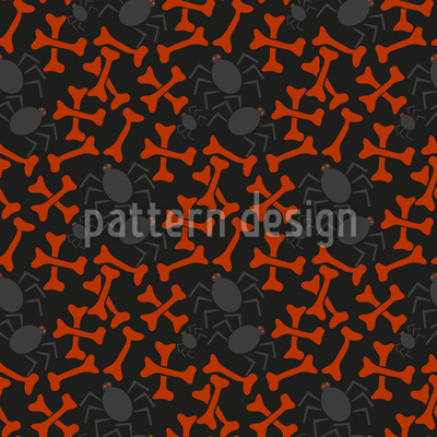 Bones And Spiders Seamless Vector Pattern Design