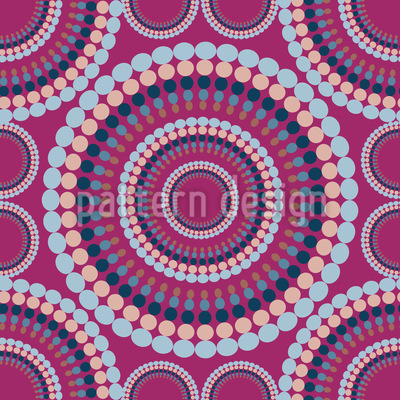 Retro Circle Seamless Vector Pattern Design