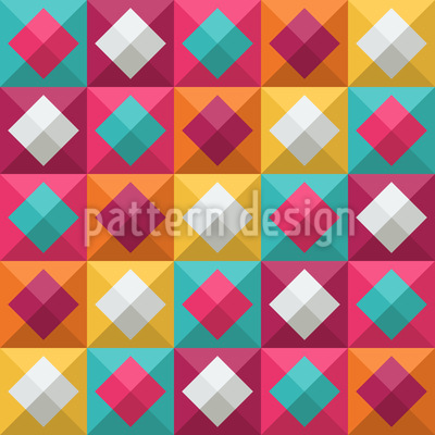 Karo Zum Quadrat Nahtloses Muster