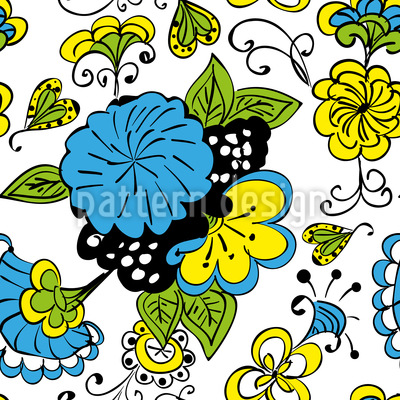 Blumen Doodle Vektor Ornament