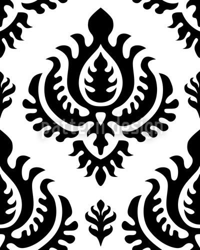 Bettwasche Barock Muster ~ Schwarz barock muster design