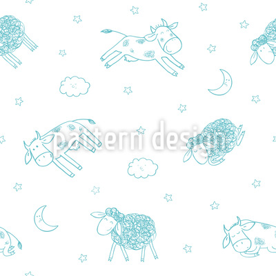 Good Night My Friends Pattern Design
