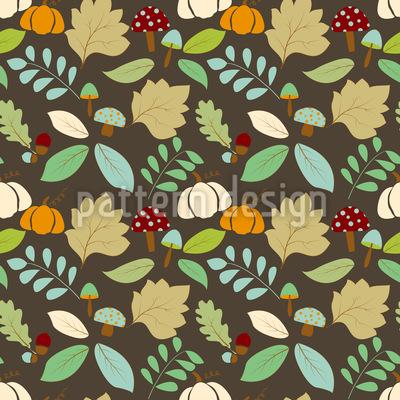 Natureza do Outono Design de padrão vetorial sem costura