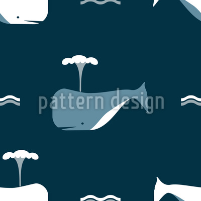Whale Ahead Vector Ornament