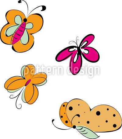 Schmetterlings Ausflug Rapportmuster