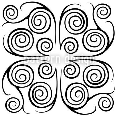 Jorinde Spiralen Schwarz Weiss Nahtloses Muster