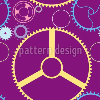 Mechanische Räder Vektor Ornament