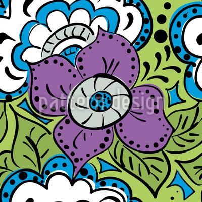 Frühlings Doodle Vektor Muster