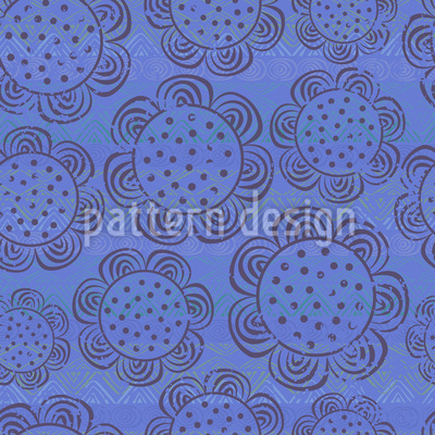 Rustic Flowers Repeat Pattern
