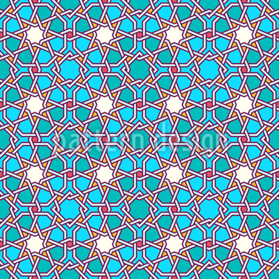 Arabic Latticework Pattern Design
