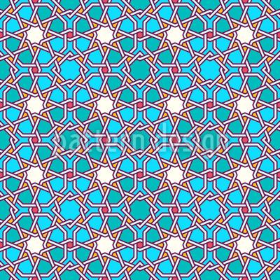 Arabic Latticework Seamless Vector Pattern Design