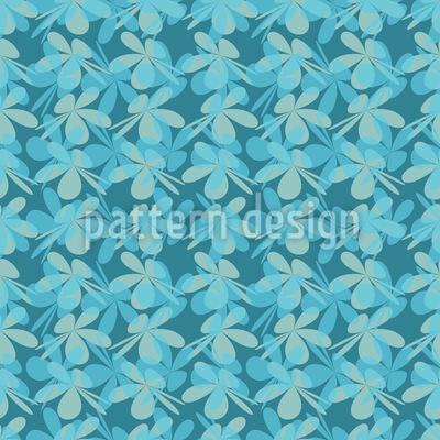 Blüten Silhouetten Vektor Muster