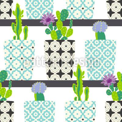 Kaktus Töpfe Auf Regalen Vektor Design