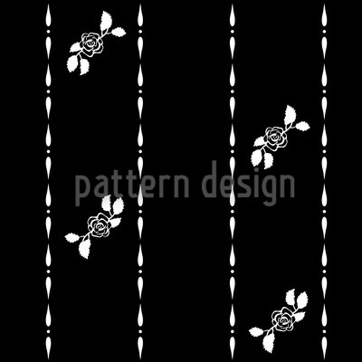 Sleeping Beauty Dreams At Night Vector Pattern