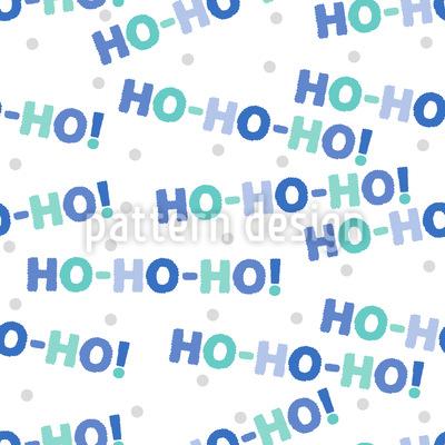 Ho Ho Ho Seamless Pattern