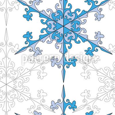 Snowflake Beauty Seamless Vector Pattern Design
