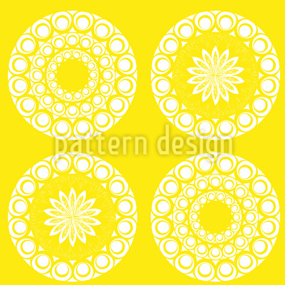 Mandala Suns Seamless Vector Pattern Design