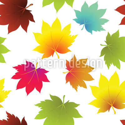 Leaves In Autumn Pattern Design