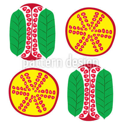 Pomegranate Section Vector Pattern