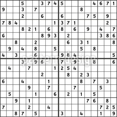 Sudoku Seamless Vector Pattern Design